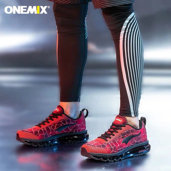 ONEMIX Men's Running Shoes Breathable Comfortable Sport Shoes Air Cushion Sneakers Lightweight Outdoor Damping Walking Shoes onemix 2018 men running shoes breathable runner athletic sneakers air cushion running shoes outdoor walking shoes free shipping