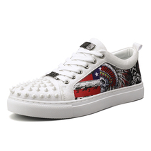 2019 Newest Fashion Trend Men Casual Shoes Rivets Decorated Footwear Sneakers 3#15/15D50