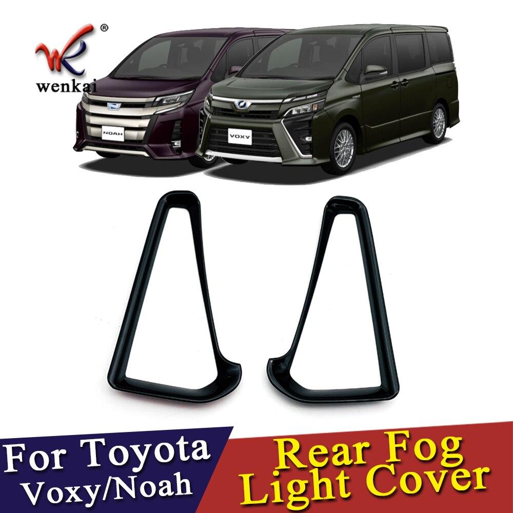 ABS Piano Black Rear Foglamp Cover Auto Parts Foglight Cover For Toyota Noah Voxy 80 Car Accessories