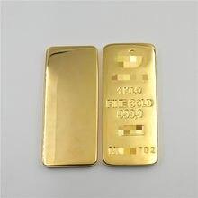 Barra de lingote chapada en oro Perth, materiales de latón, 1000g, 1KG
