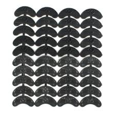 40PCS 20-Pair Rubber Heel Savers Toe Plates Taps DIY Shoe Repair Pads Size:56*24*3.1MM