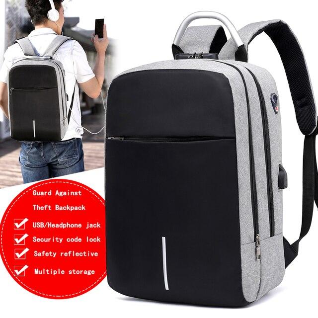 "OUBDAR Men Multifunction Anti Theft Backpack 15.6"" Inch Laptop Usb Charging Backpacks Waterproof Schoolbag Business Travel Bags 2"