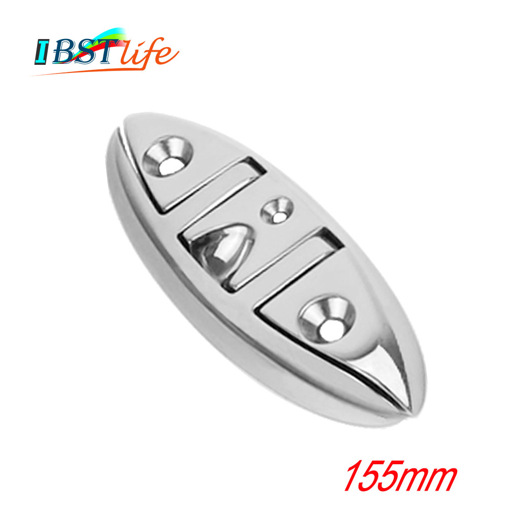 Stainless Steel 316 Marine Grade Boat Flip Up Folding Pull Up Cleat Dock Deck Marine Hardware Line Rope Mooring Cleat Accessorie