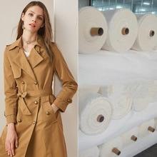 Матовая парча хлопчатобумажная переплетенная Ткань водонепроницаемая ветрозащитная ткань женский стиль одолевает пальто в полоску жаккард можно настроить