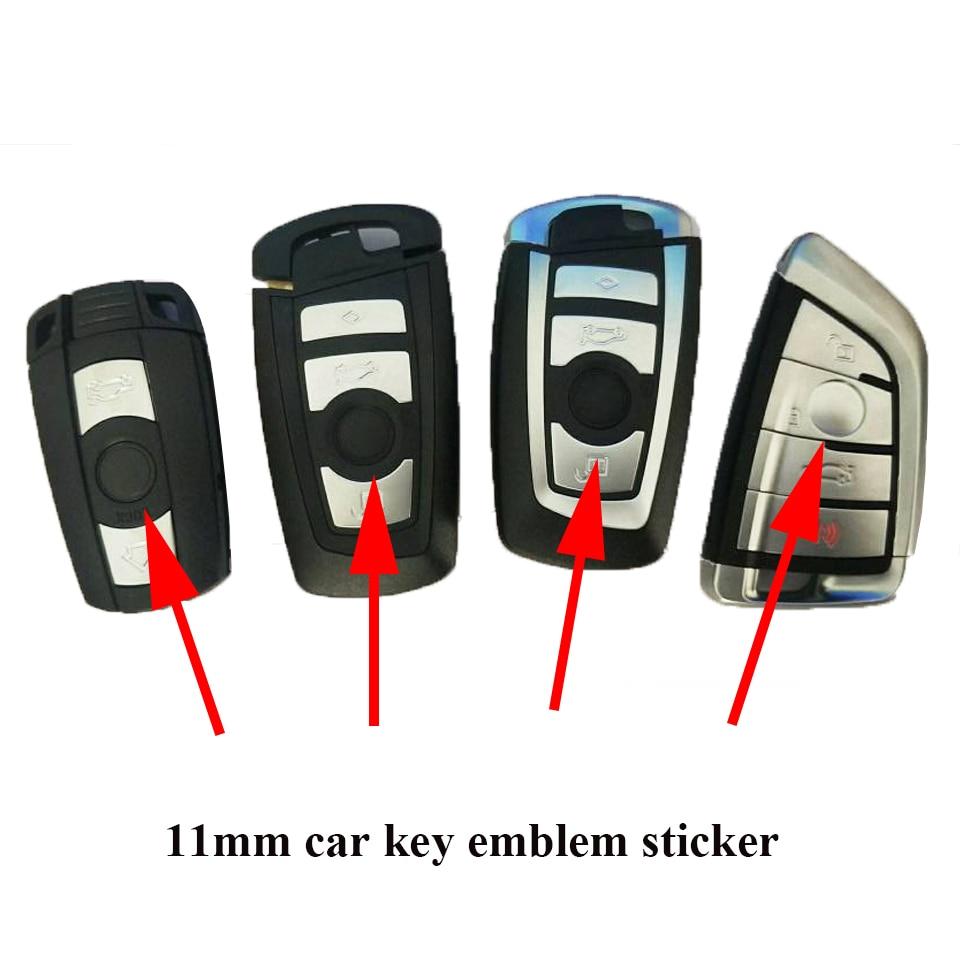 5 шт. 11 мм Диаметр ключа автомобиля логотип металлический автомобиль дистанционного ключа значок 11 мм ключа автомобиля знак стикер