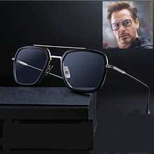 Square Iron Man Tony Stark Sunglasses Flight 006 Style Robert Downey jr Avengers
