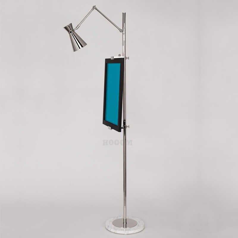 הפוסטמודרנית אופנה פנקס שרטוטים זהב זוהר רצפת מנורת מינימליסטי פשוט מעצב עומד מנורות סטודיו מחקר בית דקורטיבי אור