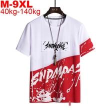 Oversized T Shirt Streetwear Men's T-shirt Short Sleeve Tshirts Hip Hop T-shirts Men Plus Size 9xl 8xl 7xl 6xl Men's Clothing