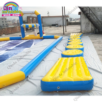 Summer water paly games inflatable floating water bridge inflatable water obstacle course for sale