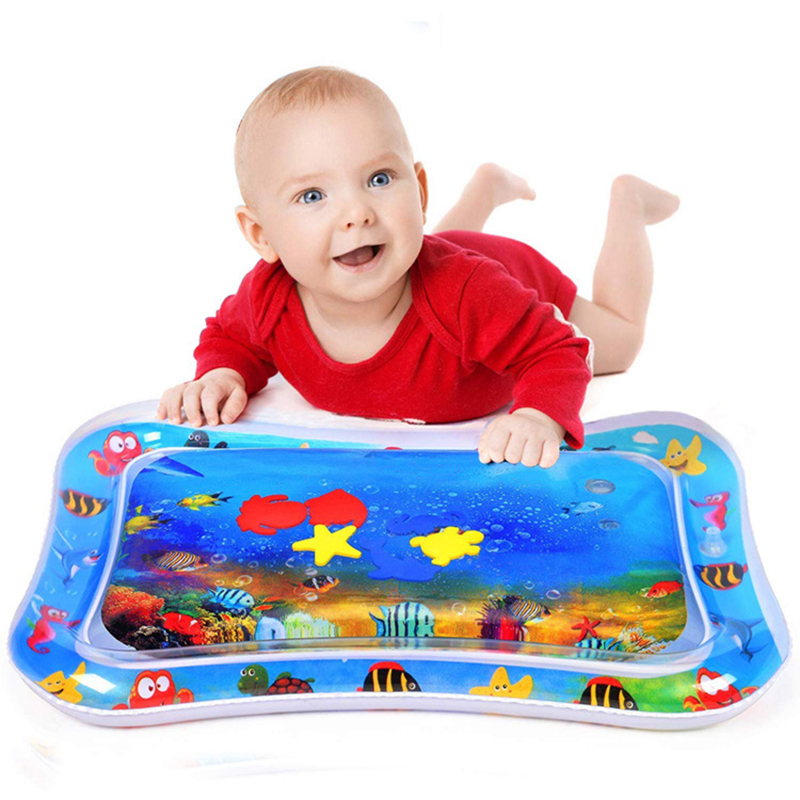 Inflatable Tummy Time Premium Water mat Infants /Toddlers is The Fun time Play Activity Center Your Baby's Stimulation Growth | Happy Baby Mama