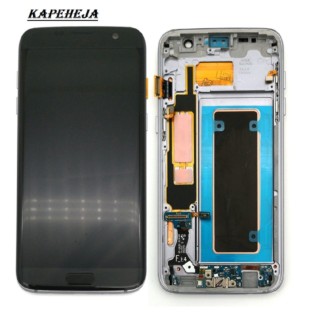 Super AMOLED <font><b>LCD</b></font> Display For <font><b>Samsung</b></font> Galaxy S7 Edge <font><b>G935</b></font> G935F <font><b>LCD</b></font> Display Touch Screen Digitizer Assembly image