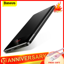 Baseus 10000mAh Power Bank Slim USB Powerbank 10000 mAh Pove