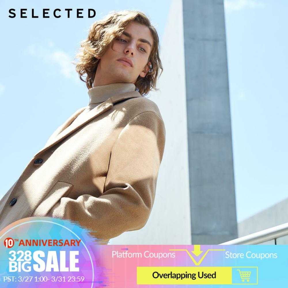 SELECTED New Wool Coat Winter Containing Woolen The Lapel In The Long Clothes Retro Outwear S | 418427538