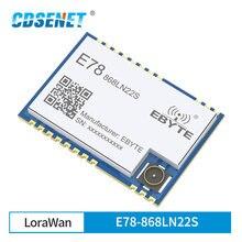 E78-868LN22S asr6501 soc lora 22dbm transceptor sem fio lorawan spi 128kb smd ipex selo buraco conector tcxo módulo rf