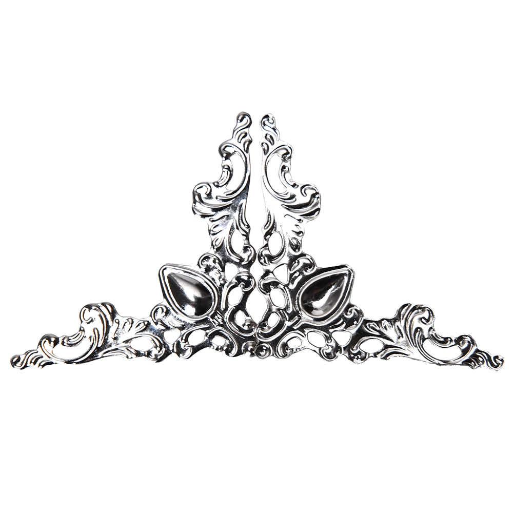 12PCS Kayu Case Dada Tepi Penutup Sudut Pelindung Dekoratif Kuningan Antik Perak Perhiasan Anggur Kotak Hadiah