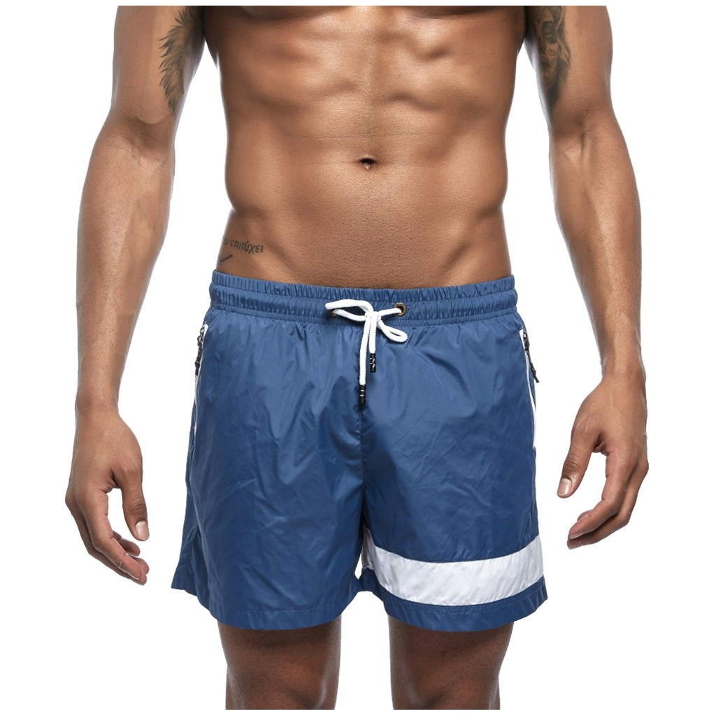 Men's Shorts New Summer Pure Color Sports Shorts Beach Pants Fashionable Big Polyester Short Short Masculino одежда