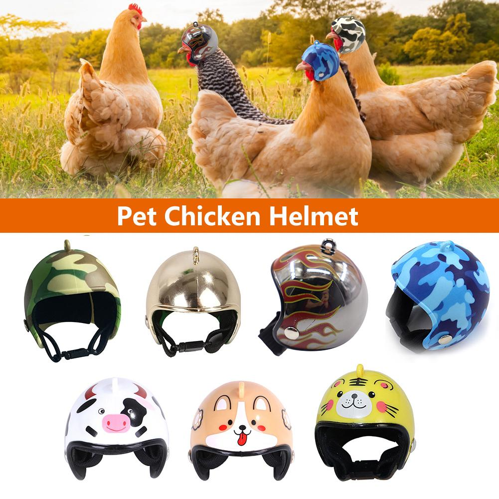 1 Pcs Pet Chicken Bird Helmet Hard Funny Chicken Helmet Head Hat Protective Compact Hen Hard Hat Bird Head Helmet Pet Supplies