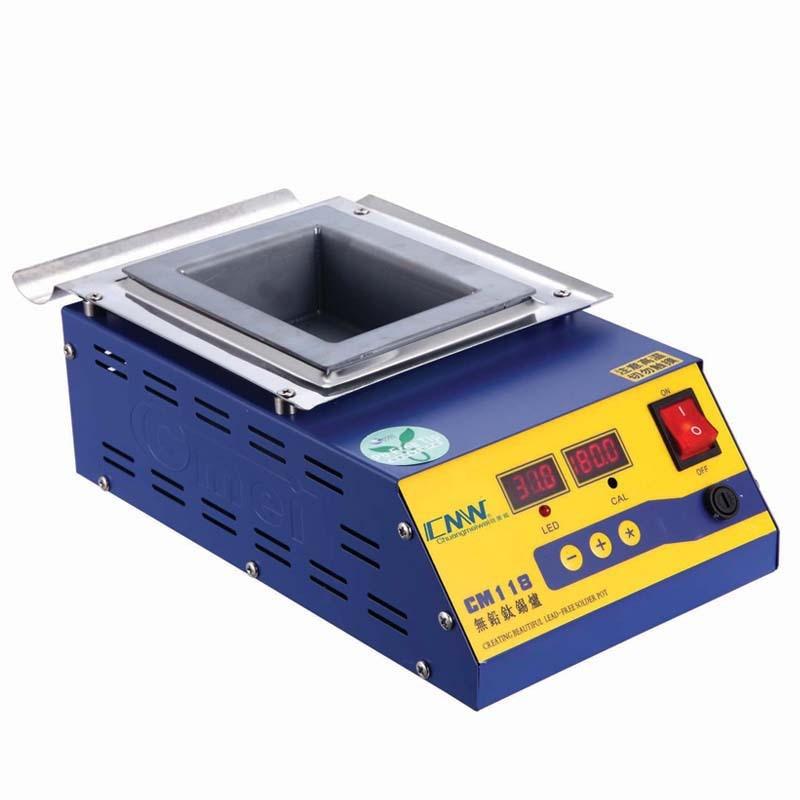 Square High Temperature Lead Free Soldering Pot Titanium Solder Furnace Tin Melting Digital Display 220V 110V CM-118 0-600C 600W