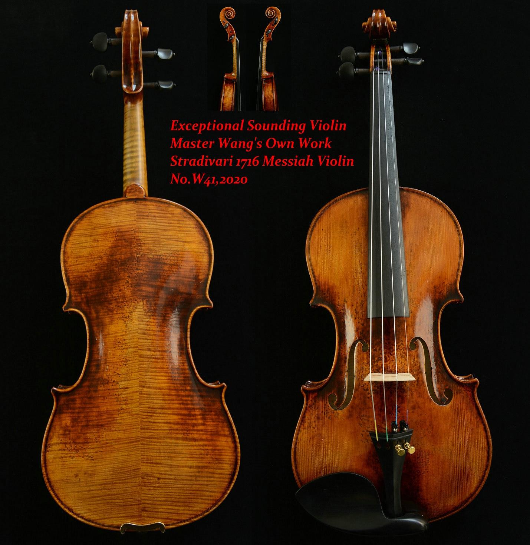 Violin Photo-Stradivari Master-Wang's Old-Spruce 1716 Messiah 200-Y Own-Work Actual No.w41