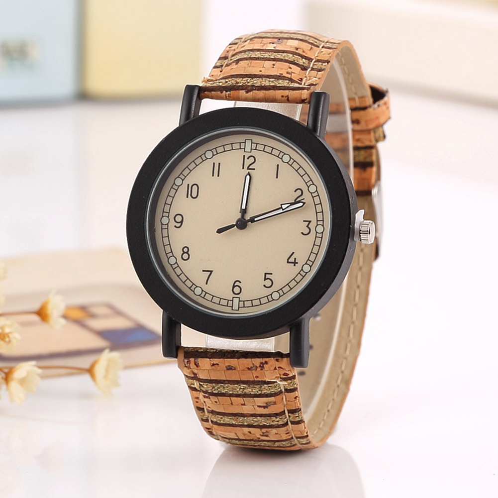 Imitation bois montre hommes femmes Quartz en bois montre kaki homme montre-bracelet bande souple homme horloge-bracelet saati