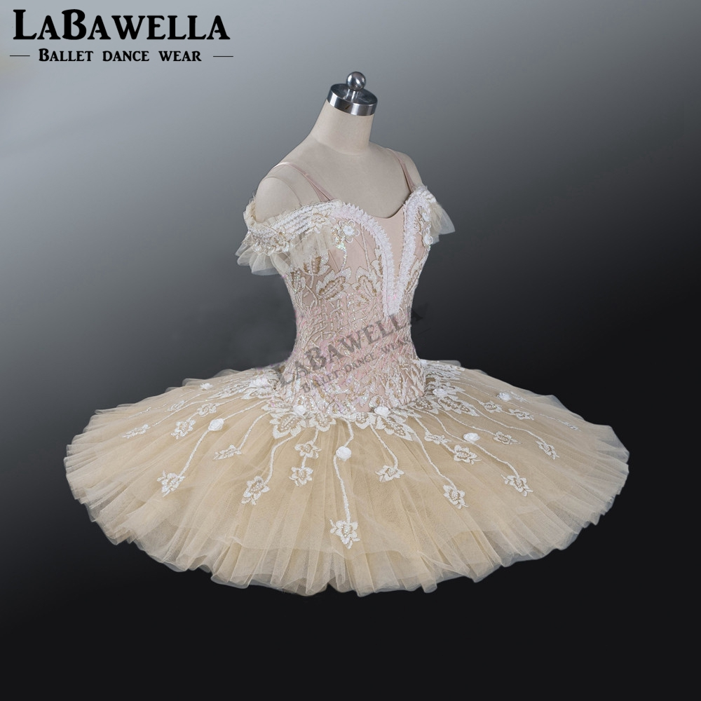Image 3 - Ballet Beige Fairy Harlequinade Variation Professional Tutu Dress Kids Performance Competiton Tutu Costume BT9073Ballet   -