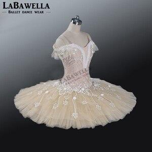 Image 3 - Ballet Beige Fairy Harlequinade Variation Professional Tutu Dress Kids Performance Competiton Tutu Costume BT9073