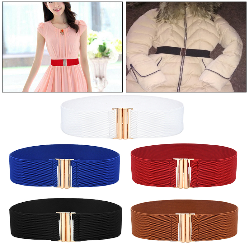2019 New Women Belt Skinny Elastic Ceinture Soft Leather Wide Self Tie Wrap Waist Band Simple Lady Vintage Dress Belt Accessory