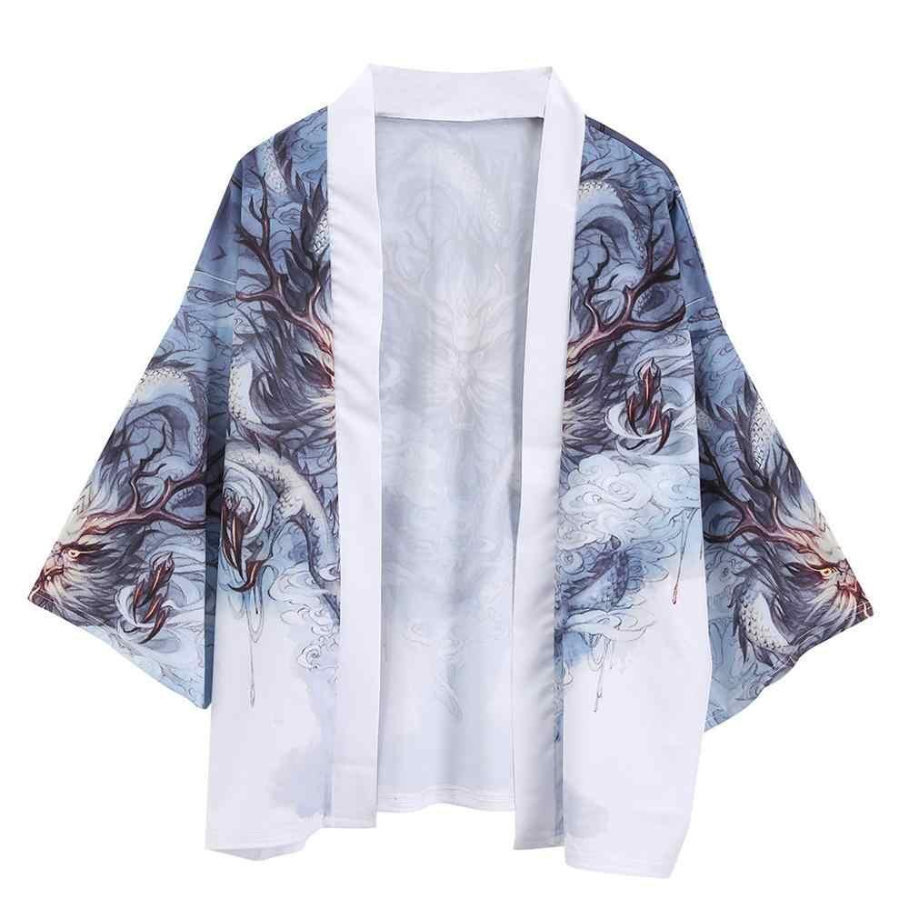 Yukata kimono hombres kimono japonés cardigan hombres disfraz de samurai ropa chaqueta de kimono para hombre camisa yukata kimono