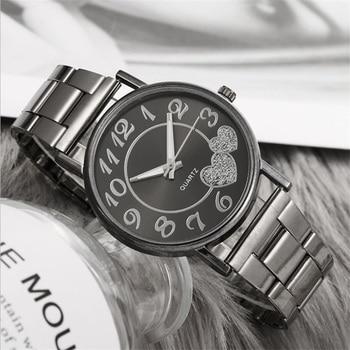 Fashion Brand Women Silver & Gold Mesh Love Heart Dial Wristwatches Fashion Steel Quartz Watches For Valentine's Day Gift Clock