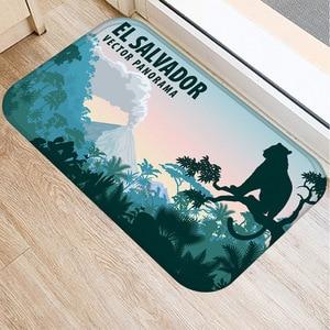 Image 5 - 動物風景非スリップマット家の寝室の装飾ソフトカーペットキッチンリビングルームのフロアマット浴室ノンスリップドアマット 40x60cm