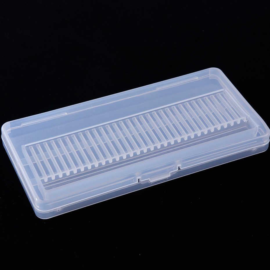 30 ثقوب البلاستيك مسمار مثقاب الخشب صندوق تخزين فارغة حامل حامل ل قاطعة المطحنة عرض الحاويات صندوق مانيكير أدوات SAB5-1
