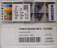 Inserções cnc seco originais TNMG160408-MF2 th1000