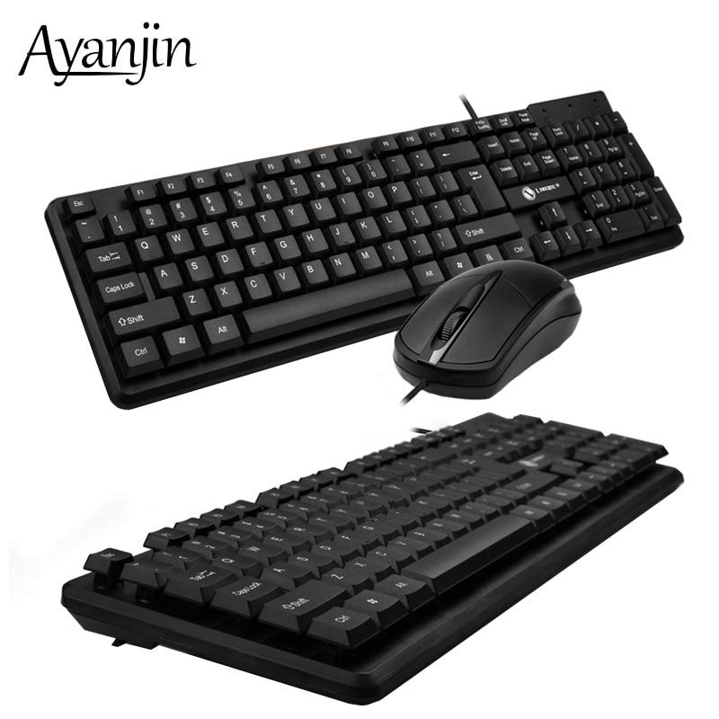 Office Business Keyboard Mouse Combo Waterproof Stand Bracket Keyboards Ergonomics Mause Computer 104 keys Suspension Key board