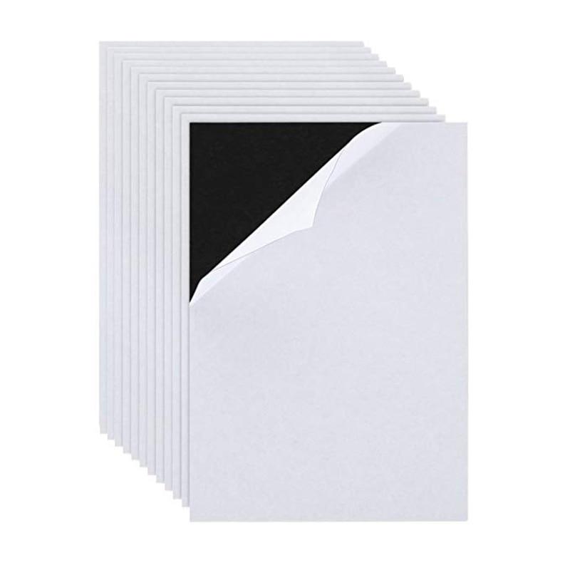 Гибкие мягкие резиновые магнитные клейкие листы A4, бумажный магнитный материал для холодильника