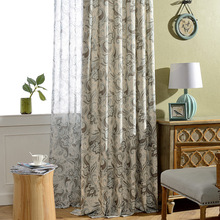 Modern and Simple European-style Curtain Polyester-cotton Printed Curtains for Living Room Bedroom Window Curtain modern simple cotton linen stereo embroidery curtain dolly curtain screen american country curtains for living room and bedroom