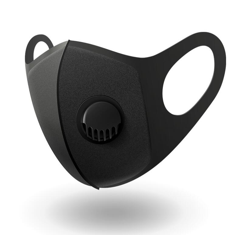 PM2.5 Black Face Mask Protective Anti Pollution Breath Valve Mouth Masks Can Be Washed Reusable Masks For Adult Wholesale