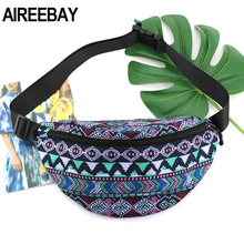 Belt-Bag Fanny-Pack AIREEBAY Bohemian-Style Summer Women Ladies Travel-Phone-Pouch Vintage