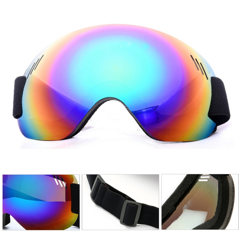 Outdoor Ski Goggles Skiing Snowboard Goggles Men Women Anti-Fog UV Protection Spherical Lens Frameless Snow Cycling Goggles