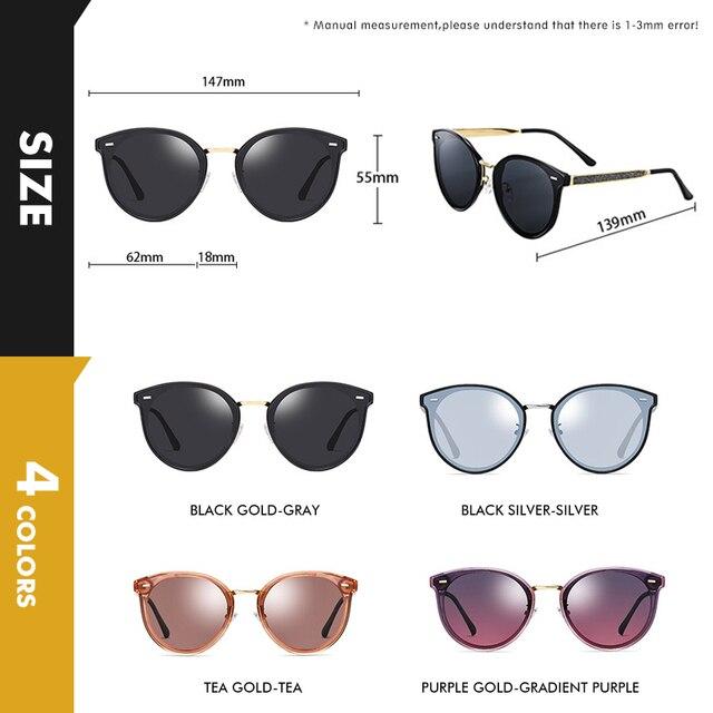 Купить круглые поляризованные солнцезащитные очки lioumo для женщин картинки цена