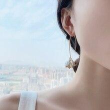 New Womens Shell Pearl Drop Earrings Handmade Beads Korean Style Cute Jewelry Girls earrings Accessories minimalist