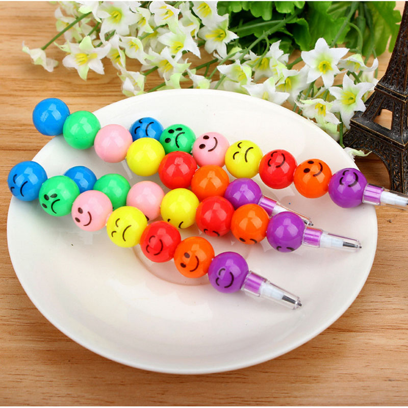 Creative Stationery Cartoon Student Candy Cane Pencil Cute Expression Smiley Free Pencil Pencil Children Student Stationery Gift