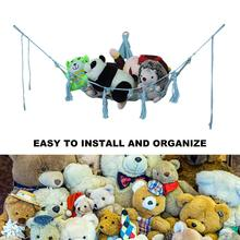 Stuffed Animal Hammock Toy Organizer Children Room Deluxe Pet Organize Corner Hammock For Stuffed Toys Storage Holder