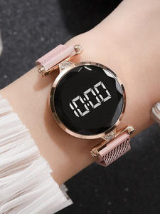 Wrist Watches Clock Magnet-Ore Digital Femme Fashion Luxury Glass Dial Sports-Alloy Women's
