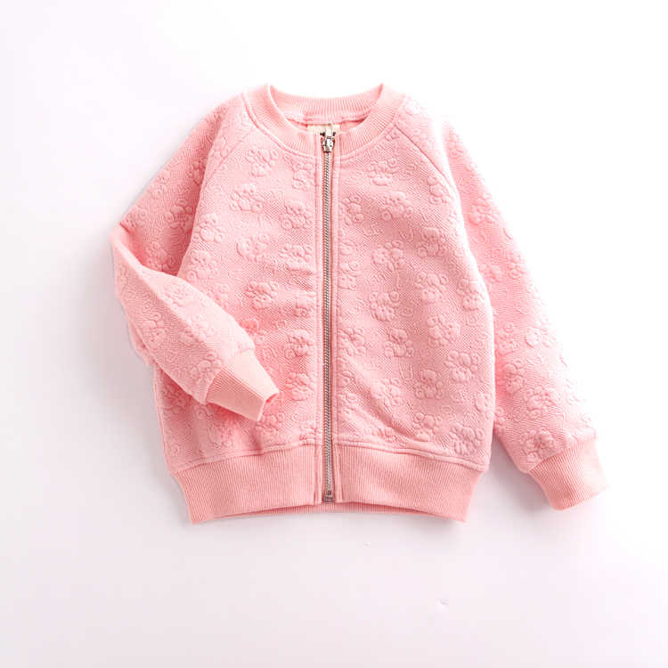 2019 autumn children's clothes printed long sleeve zipper baby girls cardigan jackets for girls kids causal coats outerwear