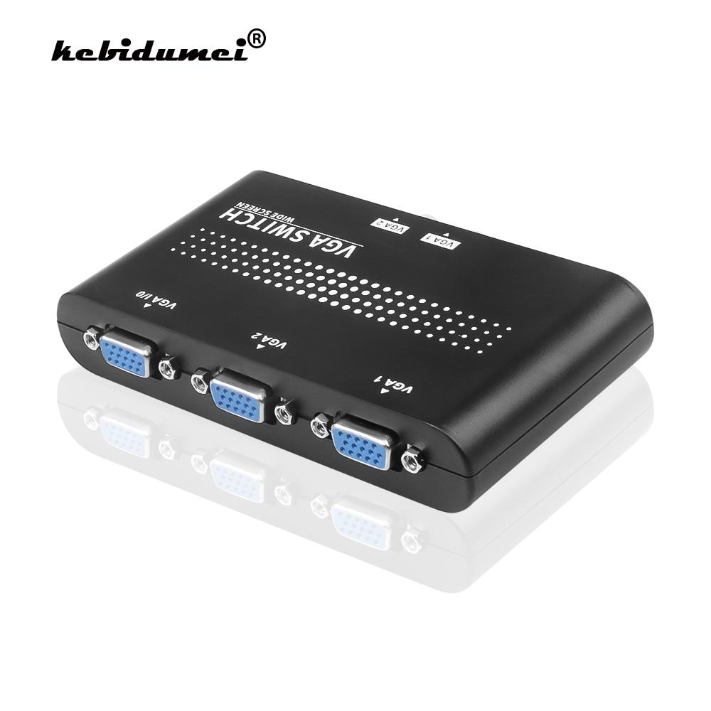 Kebidumei мини 2 Порты и разъёмы VGA распределительная коробка множественные входные сигналы VGA/SVGA Руководство Обмен электрораспределительной ко...