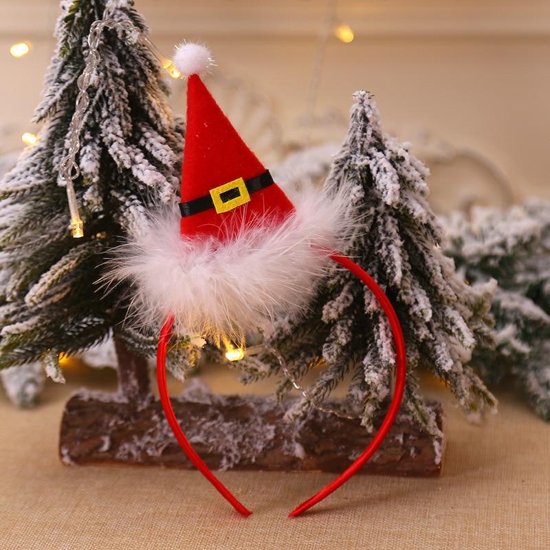 Рождественская шапка, повязка на голову, Рождественская декоративная шапка, повязка на голову, косплей, вечерние, шоу, повязка на голову, обруч для волос аксессуары для взрослых детей, Navidad - Цвет: A
