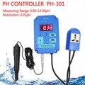 Цифровой рН-контроллер метр тестер качества воды 0 00 ~ 14.00pH Диапазон с опционным HI/LO действие Скидка 40%