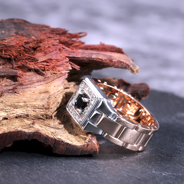 Watch Shaped Two Tone Ring 4