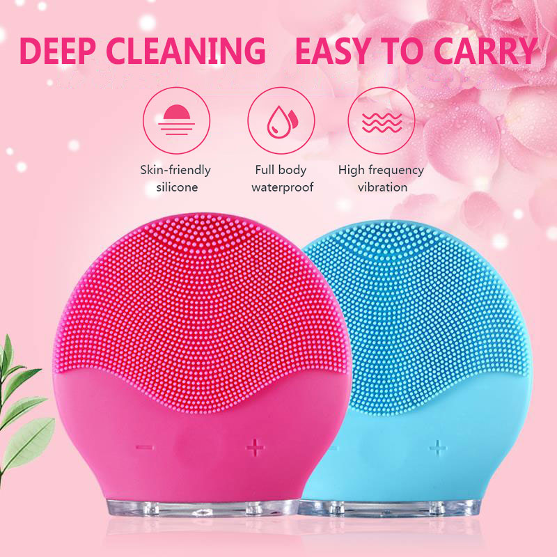 Limpieza Face Cleansing Brush  Face Scrubber , Real LOGO,USB Charging,Waterproof,8 Level mini2