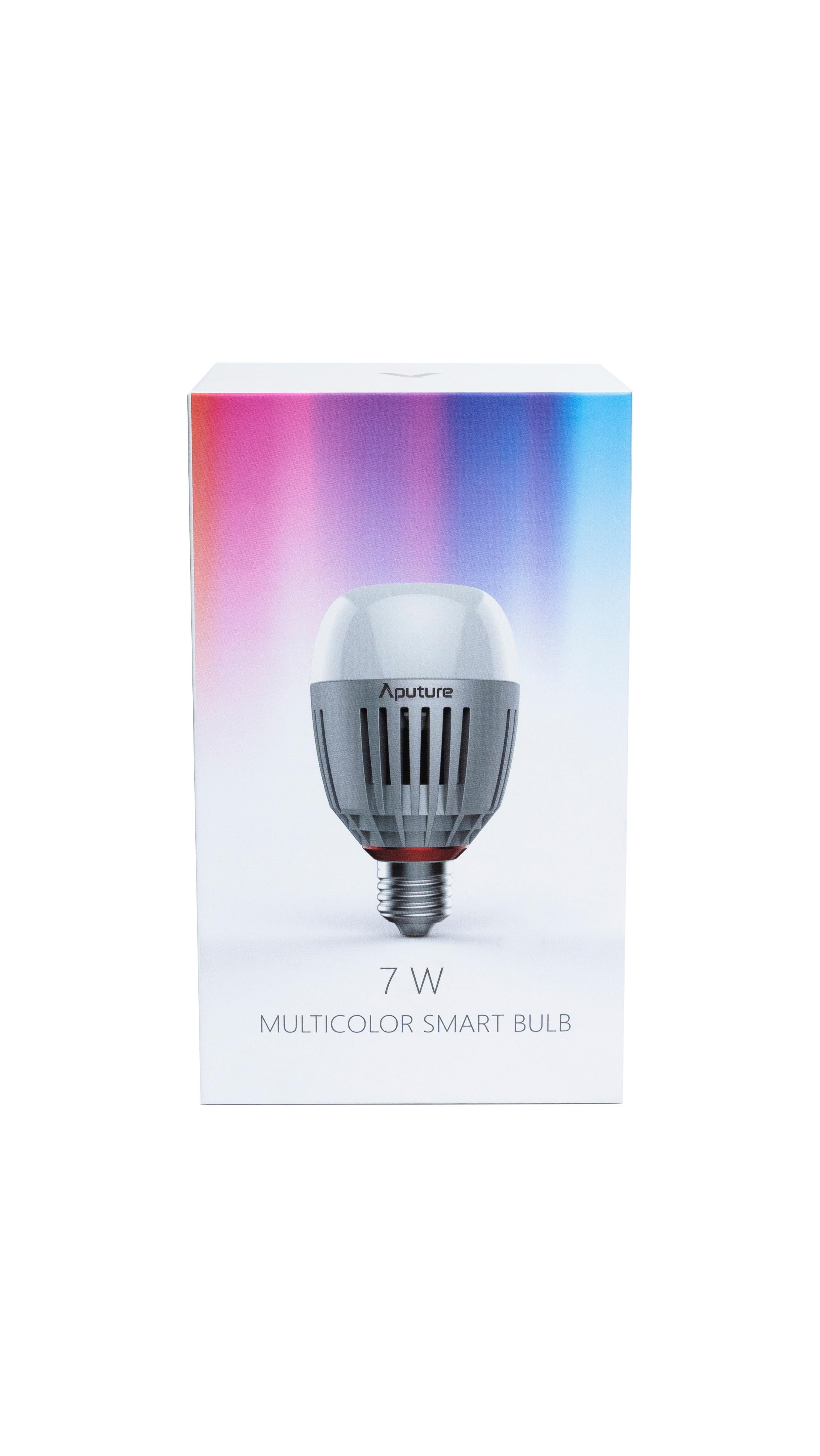 Aputure Accent B7c 7W RGBWW renk karıştırma LED ışık ampul CRI 95 + TLCI 96 + Sidus bağlantı APP kontrolü pil DC modu